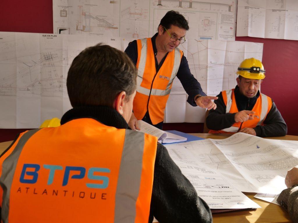 Capacité d'exécution : Encadrement technique et équipes travaux